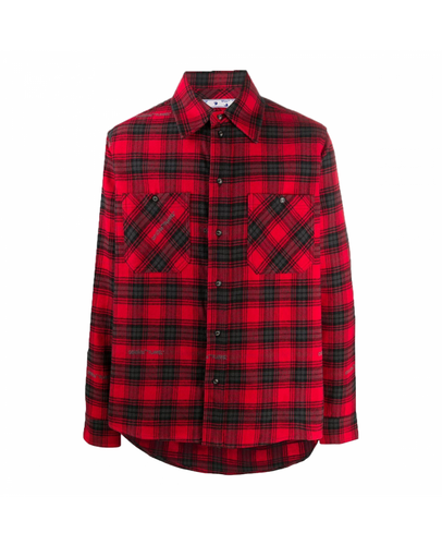OFF-WHITE ARROWS PRINT SHIRT IN RED