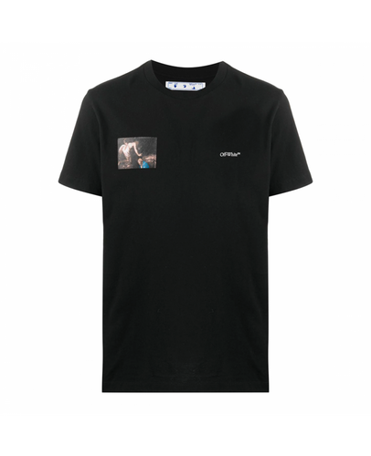OFF-WHITE CARAVAGGIO ARROWS PRINTED T-SHIRT IN BLACK