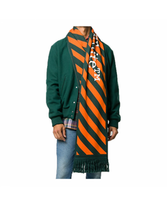 OFF-WHITE ARROWS SCARF IN GREEN