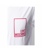 Load image into Gallery viewer, LOVE MOSCHINO LOGO LONG SLEEVE SHIRT-WHITE
