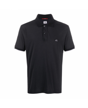 Load image into Gallery viewer, CP COMPANY POLO SHIRT  WITH LOGO-BLACK