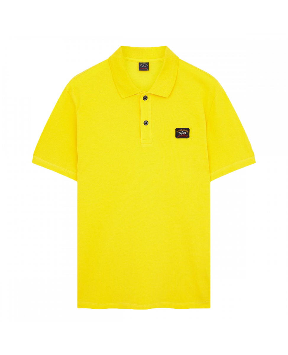 PAUL & SHARK POLO SHIRT SMALL LOGO-YELLOW