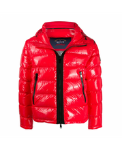 Load image into Gallery viewer, PAUL & SHARK QUILTED PUFFER JACKET WITH REMOVABLE SLEEVES-RED