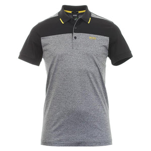 HUGO BOSS POLO SHIRT-GREY - BLACK - YELLOW