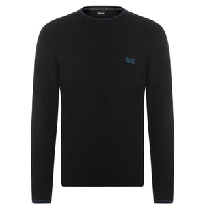 Hugo Boss SWEATER BLACK WITH BLUE LOGO