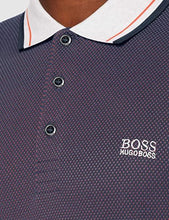 Load image into Gallery viewer, Hugo Boss-LONG SLEEVE POLO SHIRT-NAVY-ORANGE