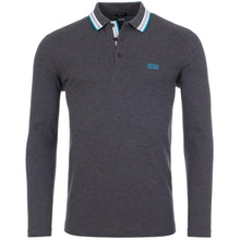 Load image into Gallery viewer, Hugo Boss-LONG SLEEVE POLO SHIRT GREY / BLUE