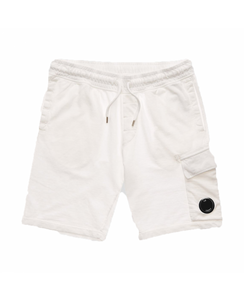 CP Company Lens Cotton Shorts - White