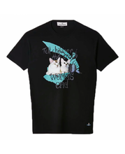 Load image into Gallery viewer, VIVIENNE WESTWOOD - CAT PRINT T-SHIRT - BLACK