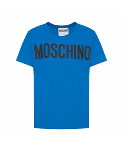 MOSCHINO COUTURE - ROUND NECK T-SHIRT - BLUE