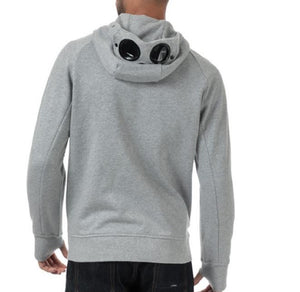 GREY CP COMPANY HOODIE WITH FULL ZIP