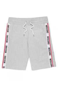 MOSCHINO SIDE TAPE SHORTS IN GREY