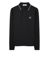 Load image into Gallery viewer, STONE ISLAND LONG SLEEVE POLO BLACK