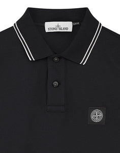 STONE ISLAND LONG SLEEVE POLO BLACK
