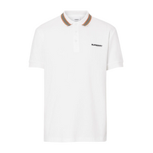 Load image into Gallery viewer, BURBERRY ICON STRIP DETAIL COTTON POLO IN WHITE