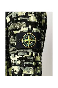 STONE ISLAND - TWISTED PIXEL CAMO SWEATER