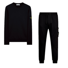 Load image into Gallery viewer, STONE ISLAND TRACKSUIT BLACK