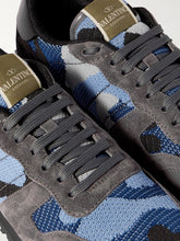 Load image into Gallery viewer, VALENTINO ROCKRUNNER BLUE CAMOUFLAGE TRAINERS