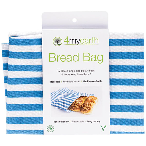 4MYEARTH Bread Bag Denim Stripe - 30 x 40cm