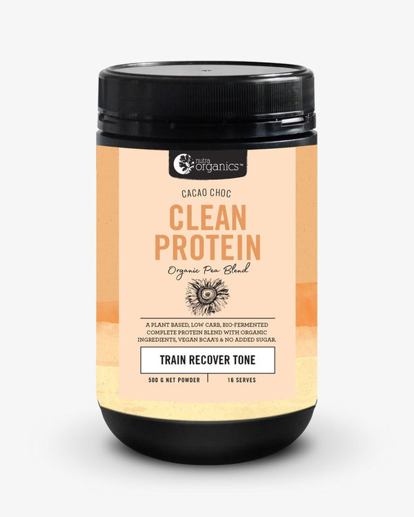 Nutra Organics Clean Protein (Organic Pea Blend) Cacao Choc 500g