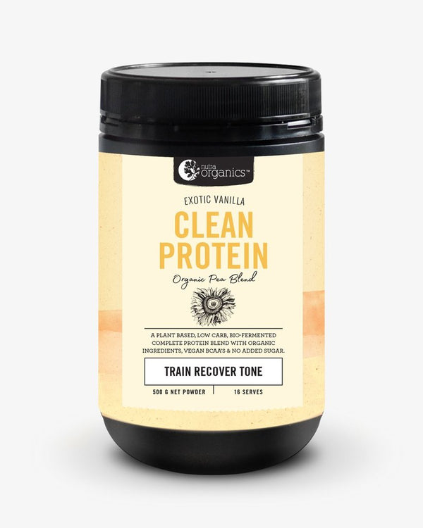 Nutra Organics Clean Protein (Organic Pea Blend) Exotic Vanilla 500g