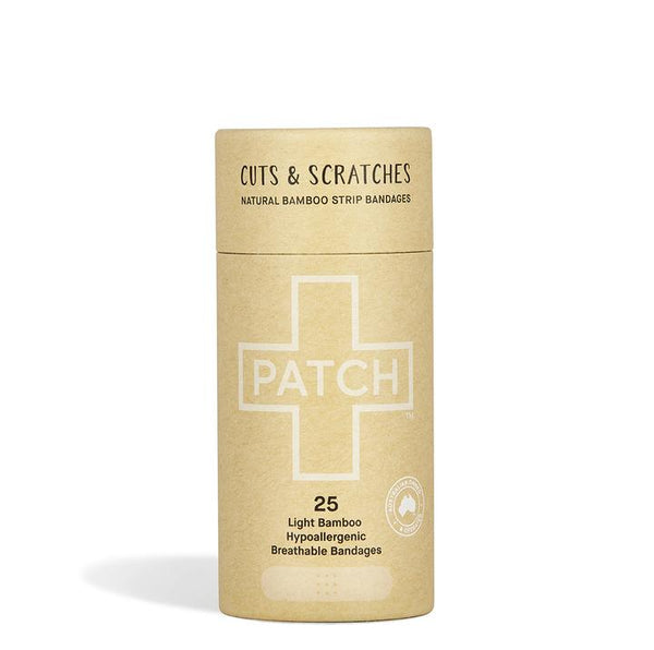PATCH Adhesive Bamboo Strip Bandages Natural - Cuts & Scratches