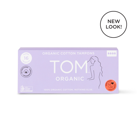 TOM Organic Cotton Super Tampons 16 pack