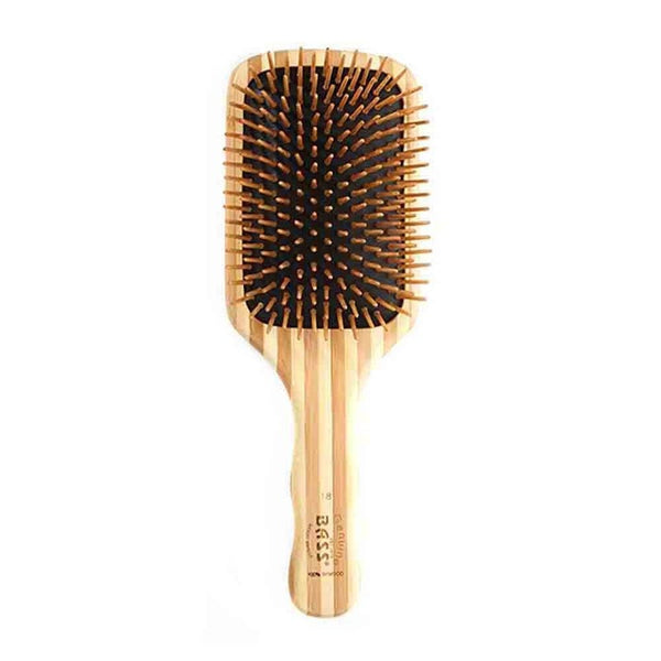 BASS BRUSHES Bamboo Wood Hair Brush  Large Square Paddle