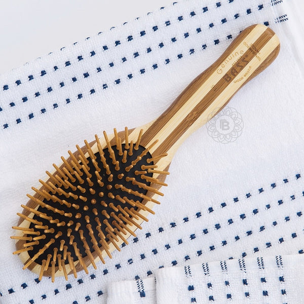 BASS BRUSHES Bamboo Wood Hair Brush  Large Oval