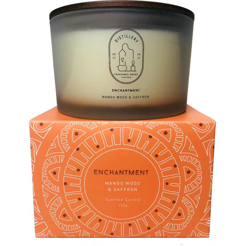 Distillery Fragrance House Soy Candle Enchantment (Mango Wood & Saffron) 450g