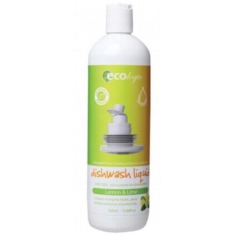 ECOLOGIC Dishwash Liquid Lemon & Lime 500ml
