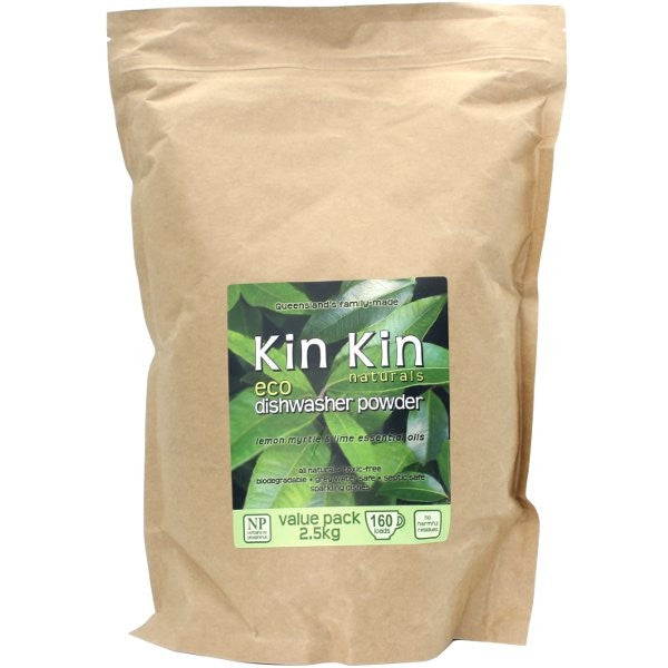 KIN KIN NATURALS Dishwasher Powder Lemon Myrtle & Lime 2.5kg