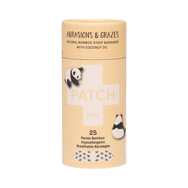 PATCH Adhesive Bamboo Strip Bandages Coconut Oil - Abrasions and Grazes