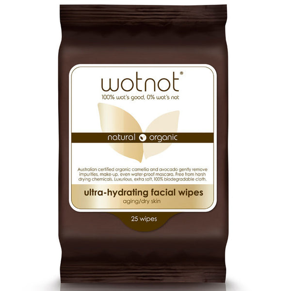 WOTNOT Ultra-hydrating Facial Wipes Aging/dry Skin 25