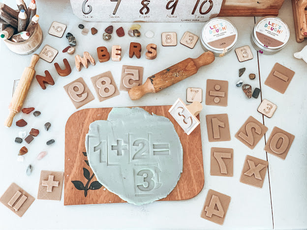 Numbers Eco Stamp Set