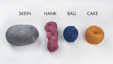 The Difference Between A Hank, A Skein, A Cake and Ball Of Yarn