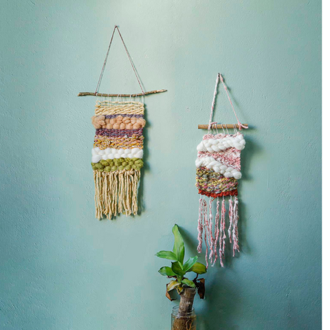 WALL HANGINGS MADE FROM MUEZART TAPESTRY WEAVING LOOM KIT