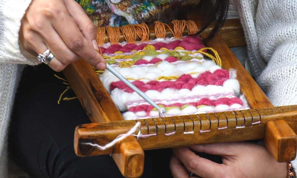 Beautiful Tapestry Weaving Loom For Beginners Use For DIY Arts and Crafts At Home