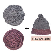 Eri Silk Knitting Yarn Combo with Downloadable Free Pattern
