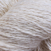 Close up of Eri silk 2 ply fingering undyed yarn | Muezart