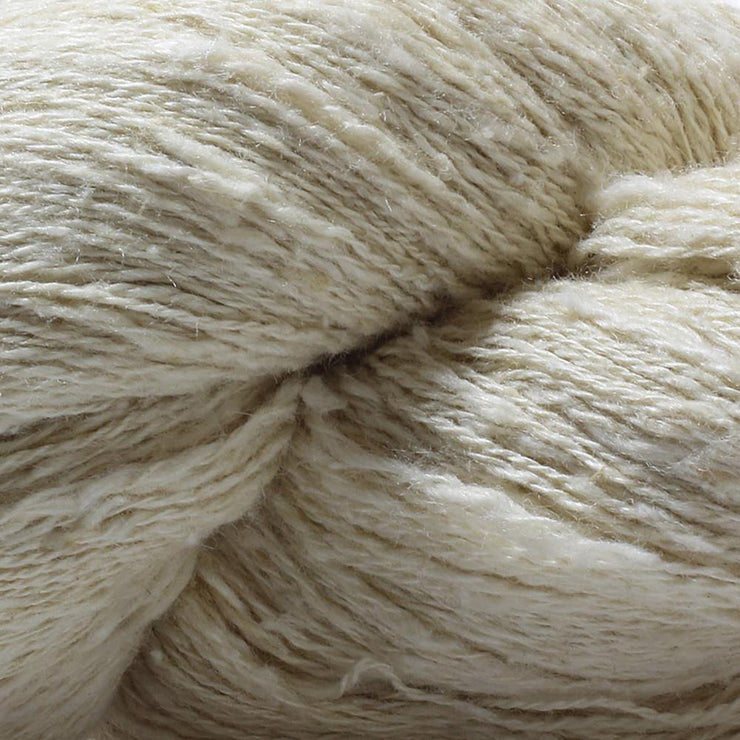 closeup of our eri silk light fingering undyed 20/2 yarn for weaving and knitting | Muezart