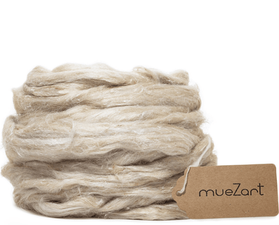 Eri muga sliver | Natural muga fiber for roving, spinning, felting, carding, blending