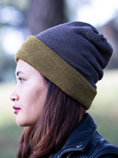 Turtle Gray Multi-functional Reversible Beanie | Muezart