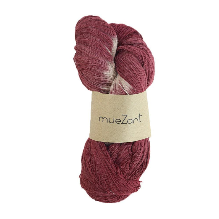 eri silk yarn | natural dyed maroon tie dye | sustainable yarn | vegan yarn | eri silk erandi silk errandi | Muezart