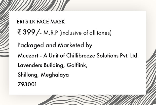 Eri Silk Face Mask | Non Surgical / Non Medical