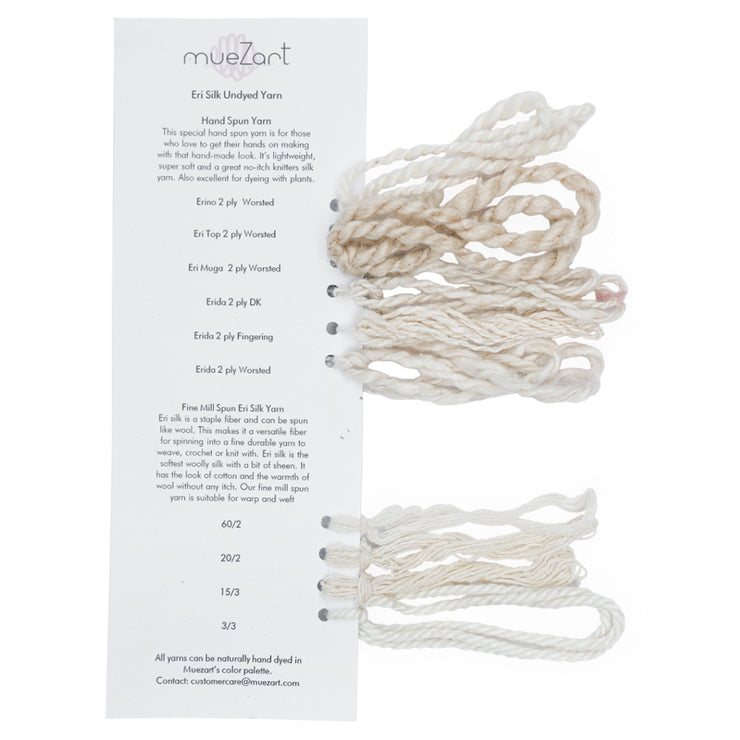 Yarn and Fiber | Undyed | Eri Silk Sample Card