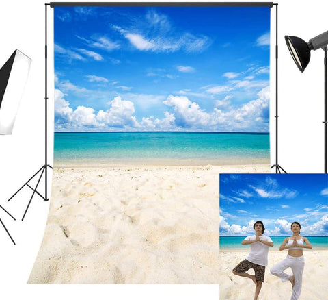 Tropical Sea Waves Beach Sand Summer Holiday Natual Scene Photographic Background Photography Backdrops For Photo Studio