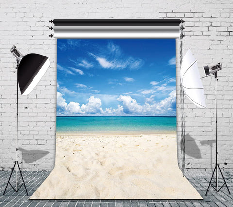 Tropical Sea Waves Beach Photography Backdrops