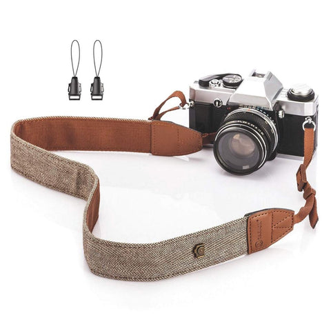 Universal Adjustable Camera Shoulder Neck Strap Cotton Leather Belt For Nikon Canon DSLR Cameras Strap Accessories Part