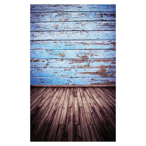 Wood Blue Old House Photography Backdrops